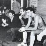 Coach Ferdinando Giannatasio incita i suoi, stagione 83-84