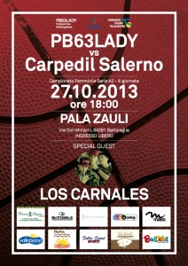PB63LADY vs Carpedil Salerno - 27 ottobre 2013 - 18:00