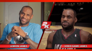 Lebron James in versione reale e virtuale