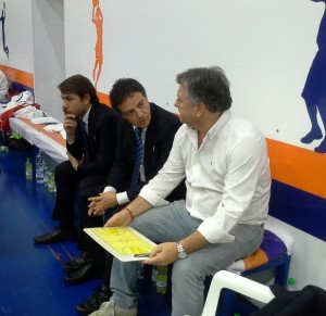 coach Riga con il team manager Pierri ed il patron Rossini