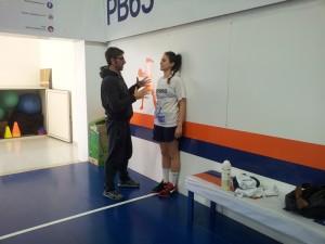 Isabel Hernandez a lavoro con il preparatore Mazzeo