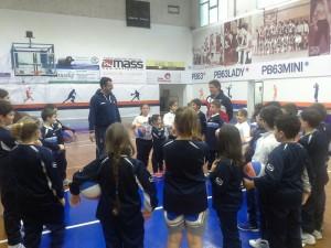 coach Riga con i giovanissimi della PB63