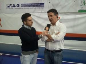 Massimo Riga intervistato nel corso della trasmissione