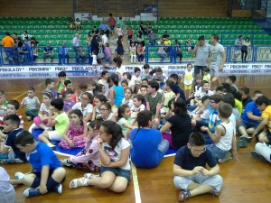 i tanti bambini della PB63Mini presenti ieri allo Zauli