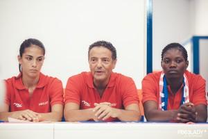 coach Riga con Orazzo e Ndjock