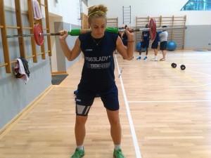 Giulia Prosperi impegnata durante gli allenamenti