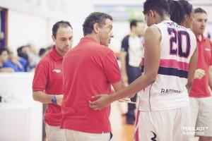 coach Massimo Riga a colloquio con Tunstull
