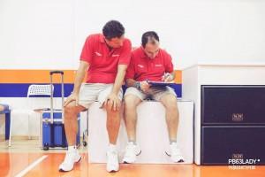 coach Dragonetto insieme a Massimo Riga