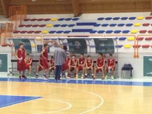 un timeout di coach Poderico nel corso della gara di questa sera