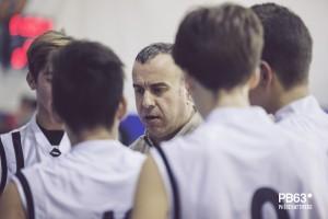 Luca Poderico, coach dell'under 17 Regionale