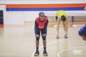 Brooque Williams in allenamento