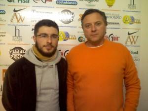 coach Sanfilippo con il patron Rossini