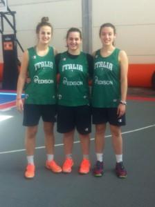 il trio della PB63Lady allo Streetball di Rimini