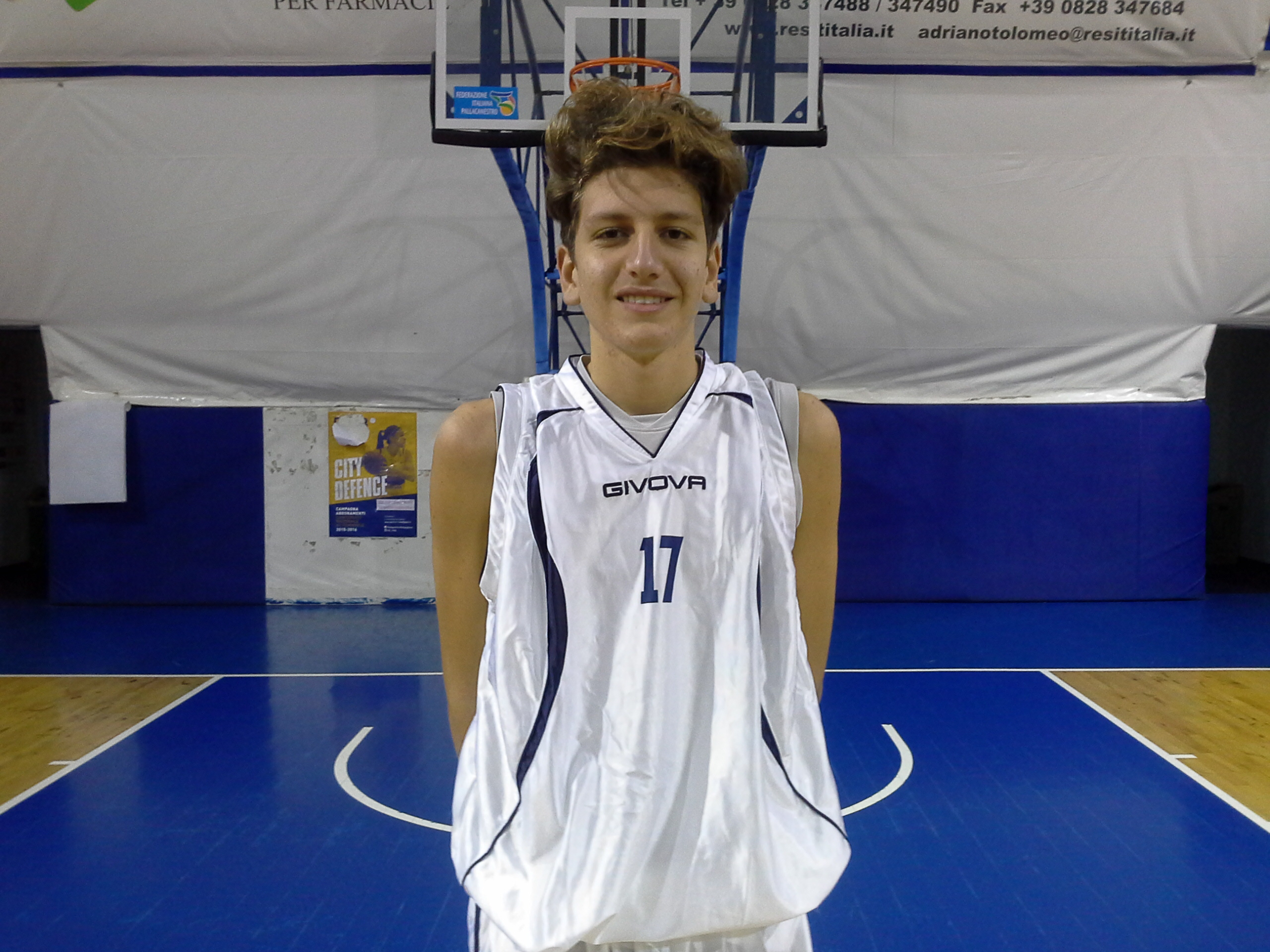 Enrico Fereoli dell'under 18 Regionale