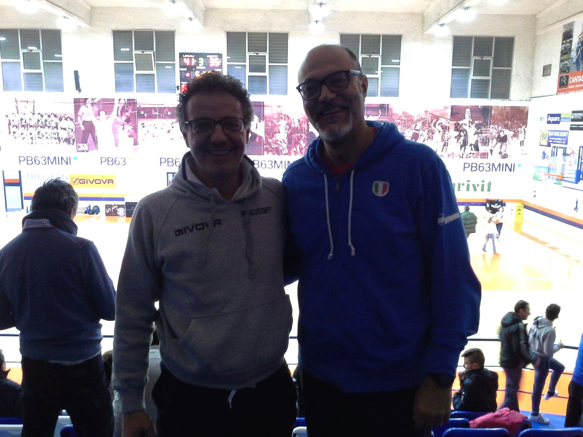 Giovanni Lucchesi con Massimo Riga
