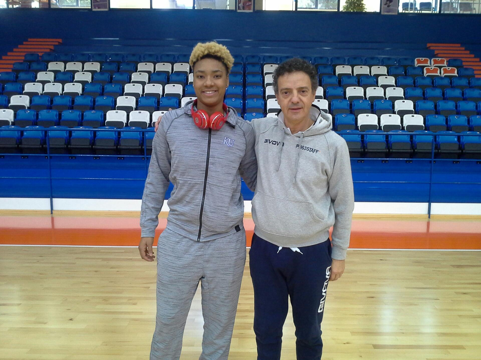 Asia Boyd con coach Riga