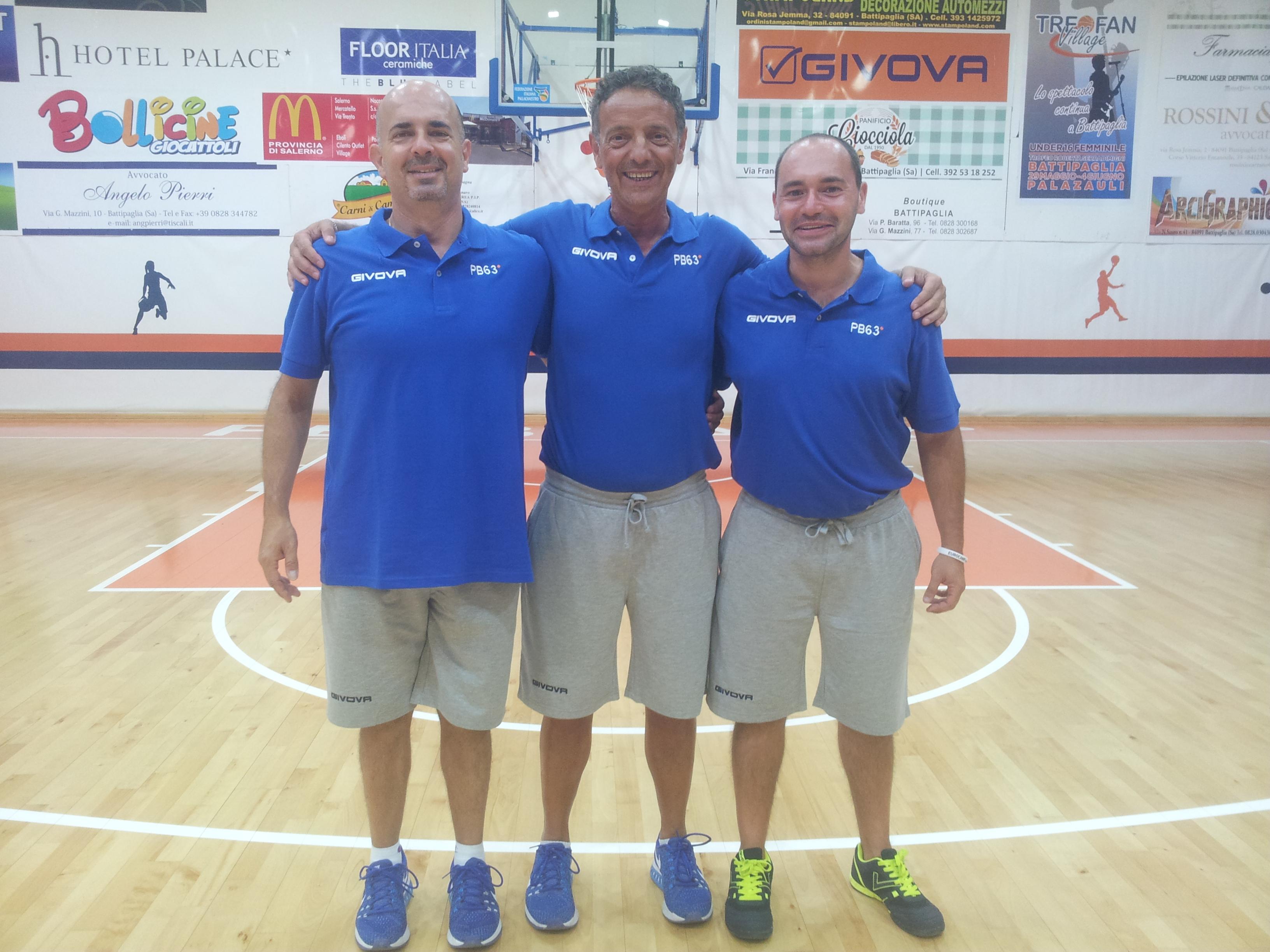 coach Riga ed il suo staff