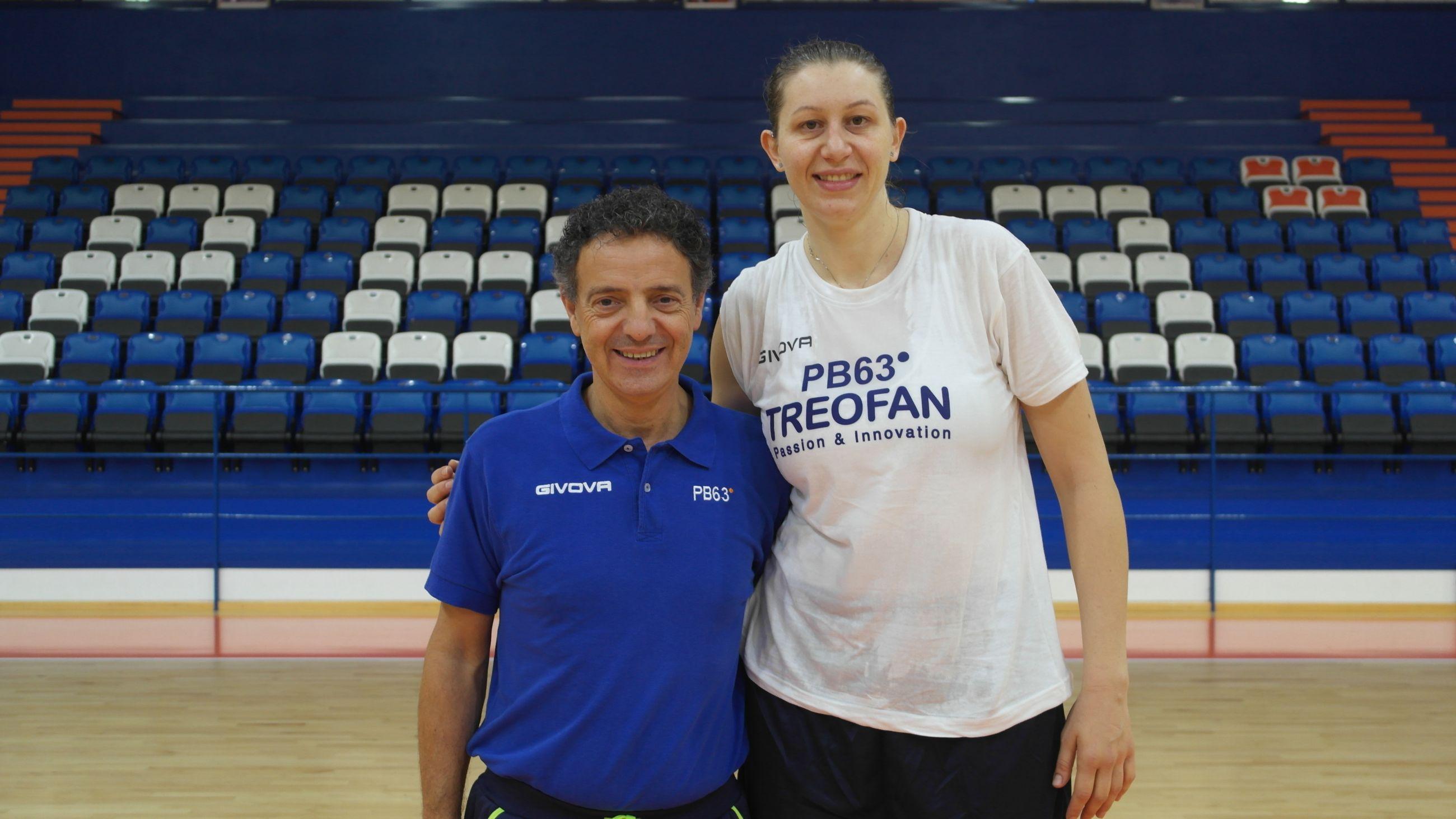Florina Pascalau con coach Riga